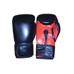 Cobra Boxhandschuhe Leder Schwarz Rot