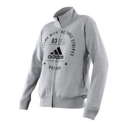 Adidas Boxing Community Jacket Grey Black
