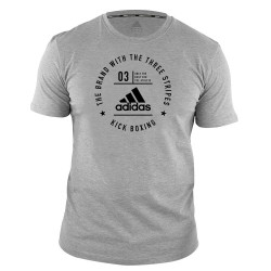 Adidas Kick Boxing Community T-Shirt Grey Black