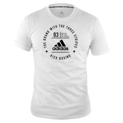 Adidas Kick Boxing Community T-Shirt White Black