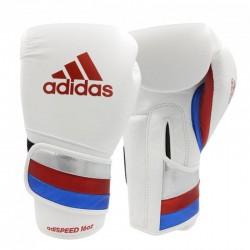 Adidas Adispeed Strap Up Boxhandschuhe White Red Blue