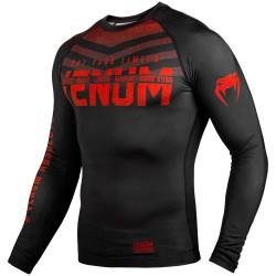 Venum Signature Rashguard LS Black Red