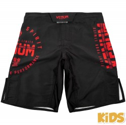 Venum Signature Fightshorts Black Red Kids