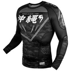 Venum Okinawa 2.0 Rashguard LS Black White