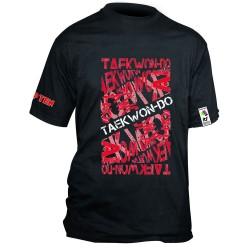 Top Ten ITF Taekwon-Do T-Shirt Schwarz Rot