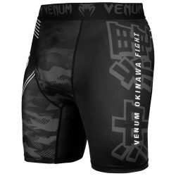 Venum Okinawa 2.0 Compression Shorts Black White