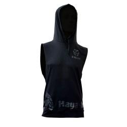 Hayashi Biceps Hooded Tank Top Schwarz