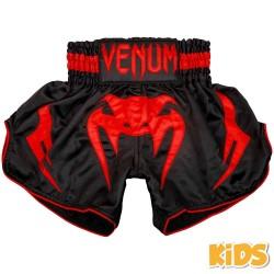 Venum Bangkok Inferno Kids Muay Thai Shorts Black Red