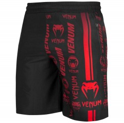 Venum Logos Training Shorts black red