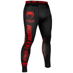 Venum Logos Thights black red