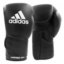 Adidas Adispeed Strap Up Boxhandschuhe Black White