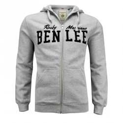 Benlee Danny Lee Men Hooded Zipsweat Marl Grey