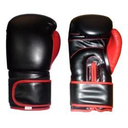 Lion Boxhandschuhe Leder Schwarz Rot