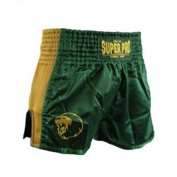 Super Pro Brave Thai Kickboxing Short Grün Gold