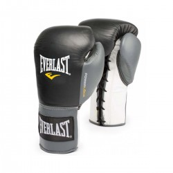 Everlast Powerlock Fight Gloves Laced 10 Oz XL Black Grey 2270