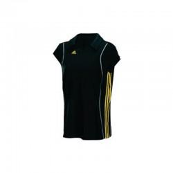 Abverkauf Adidas T8 Clima Polo Shirt Women Black Yellow XS