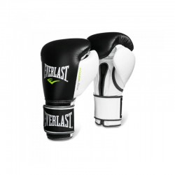 Everlast Powerlock Training Gloves Velcro Black White 2272
