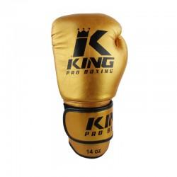 King Pro Boxing KPB BG 5 Boxhandschuhe Leder Gold