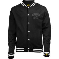 Kronk Vintage Style Print College Jacket Black