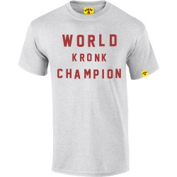 Kronk World Champion Retro Style T-Shirt Ash Grey