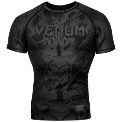 Venum Devil Rashguard SS BLack Black