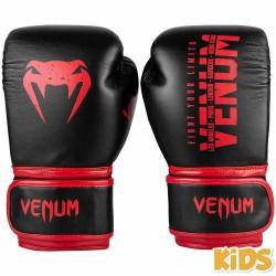 Venum Signature Kids Boxing Gloves Black Red