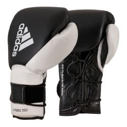 Adidas Hybrid 350 Duo Lace Boxhandschuhe Black White