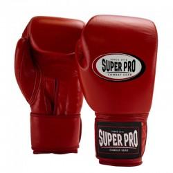 Super Pro Thai Pro Leder Boxhandschuhe Red
