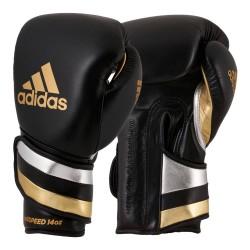 Adidas Adispeed Strap Up Boxhandschuhe Black Gold Silver
