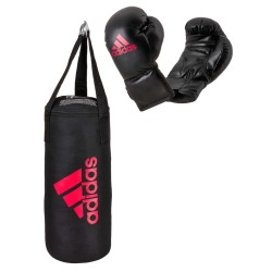 Adidas Junior Boxsack Set Black Red