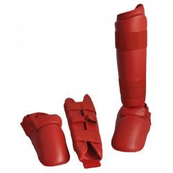 Phoenix Karate Kumite Schienbein Spannschutz Rot