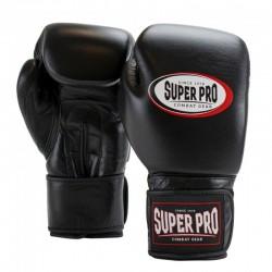Super Pro Thai Pro Leder Boxhandschuhe Black