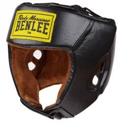 Benlee Open Face Leather Headguard Black