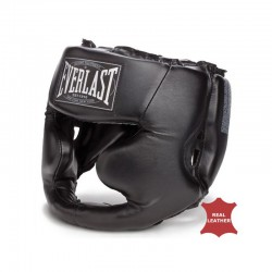 Everlast Full Protection Kopfschutz Leder Black 350 CE