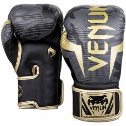 Venum Elite Boxhandschuhe Dark Camo Gold