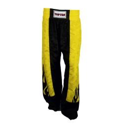 Top Ten Flame Kickboxhose Schwarz Gelb
