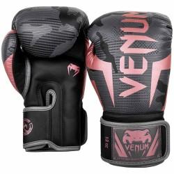 Venum Elite Boxhandschuhe Black Pink Gold