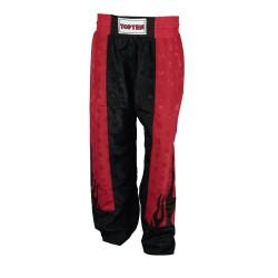 Top Ten Flame Kickboxhose Schwarz Rot
