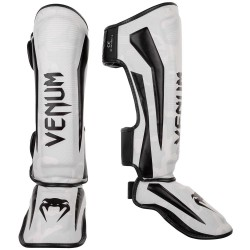 Venum Elite Shinguards White Camo