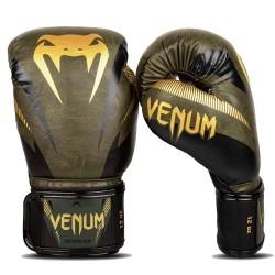 Venum Impact Boxhandschuhe Khaki Gold