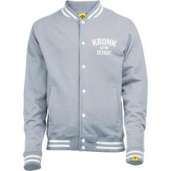 Kronk Vintage Style Print College Jacket Grey