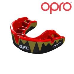 Opro Platinum Zahnschutz schwarzmetallic rot