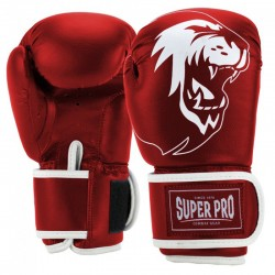 Super Pro Talent Kick Boxhandschuhe Red White Kids