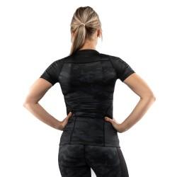 Venum Defender Women Rashguard SS schwarz schwarz