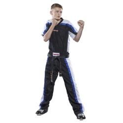Top Ten Mesh Kickboxhose Schwarz Weiss Kids