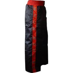 Kickboxing Kickboxhose Schwarz Rot