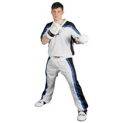 Top Ten Mesh Kickboxhose Weiss Schwarz Kids