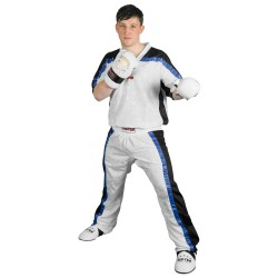 Top Ten Kickboxjacke Mesh T-Shirt Weiss Schwarz