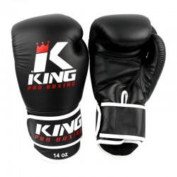 King Pro Boxing KPB BG 3 Boxhandschuhe Leder Schwarz