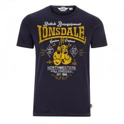 Lonsdale Yauatcha Herren Slim Fit T-Shirt Navy